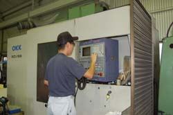 立型マシニングセンターのセット