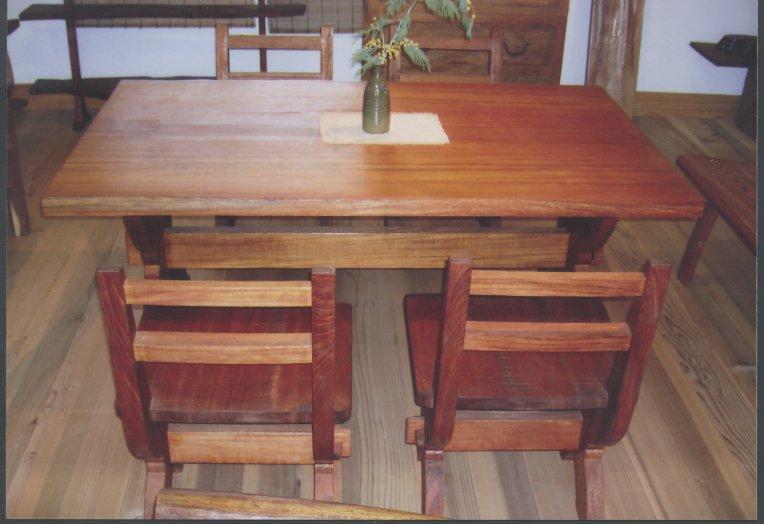チーク材使用のテーブルセット