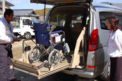 リフト付なので車椅子のまま乗車可能です