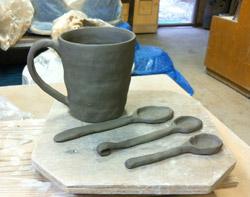粘土1kgで作れる作品例