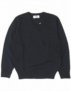 男女兼用セーター 紺色 《ウール混》・100-160